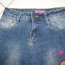 GIRLS EMBROIDERED ZANA DI STRETCH BLUE JEANS W26Xl28