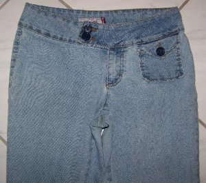 JUNIOR'S JORDACHE STRETCH LO-RISE JEANS SZ 7/8 W28Xl31