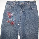 GIRLS CANYON RIVER BLUES EMBROIDERED JEANS SZ12 W24xL26