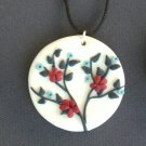 Red white and blue pendant