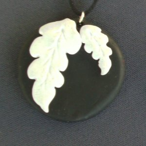 Wedgewood Pendant in black and white