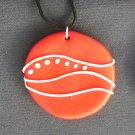 Red-Orange Wave Pendant