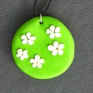 White Daisies in a Grassy Field Pendant