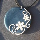 Navy and white pendant
