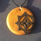 Gold and Black Pendant
