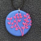 Bright blue and Hot pink Pendant