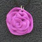 Fushia Rose Pendant