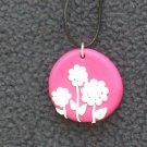 Pink Daisy Pendant