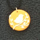 Orange Bird Pendant