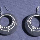 Black Circular Earrings