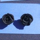 Black Rose Post Earrings