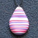 Shades of pink striped pendant