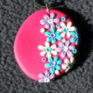 Colorful daisy pendant
