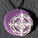Purple lace pendant