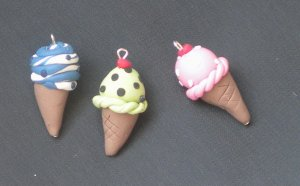 Ice Cream Cone Pendant