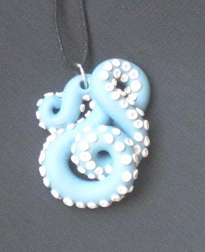 Baby Blue Octopus Pendant