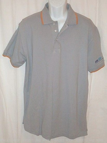 Gray Orange POLO SHIRT golf sport ASB-AIR  Panalpina Group mens size XL