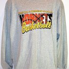 FREE SHIPPING Throwback CHARLOTTE HORNETS T-SHIRT gray long sleeve NBA basketball mens size XL