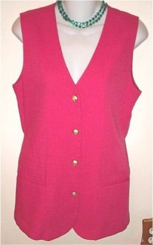 PINK SLEEVELESS SHIRT tunic top long vest linen new Sag Harbor Medium size 8