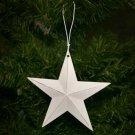 Country White Tin Star Christmas Ornament