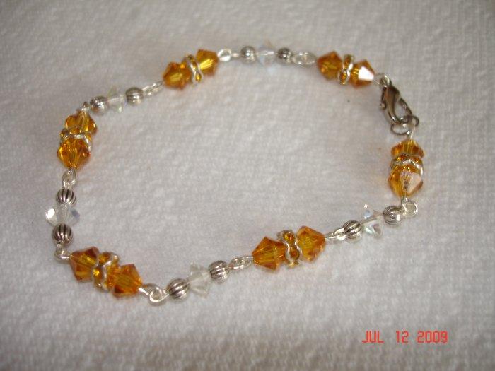 Amber Swarovski crystal bracelet