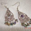 Festive Swarovski crystal chandelier earings