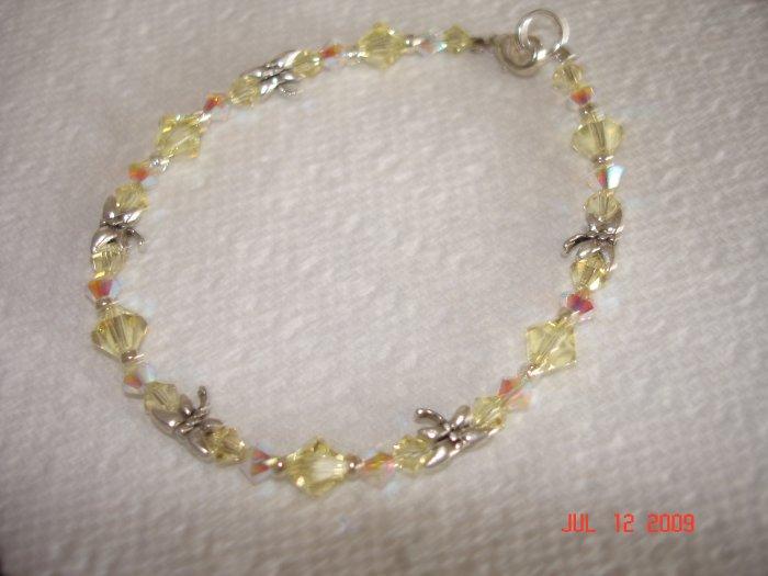 Swarovski dragonfly bracelet