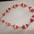 Swarovski coral bracelet