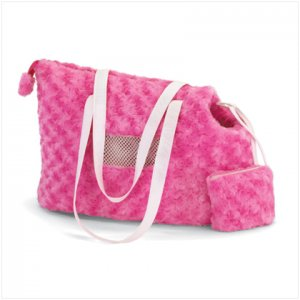 NEW! Pink Plush Pet Carrier