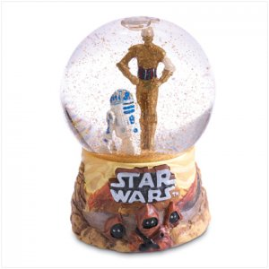 NEW! C-3PO 7 R2-D2 Mini Waterglobe