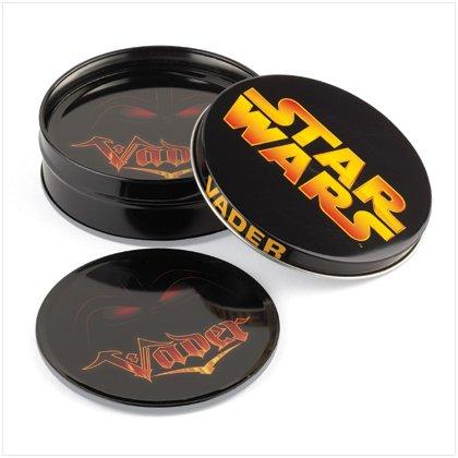 NEW! Darth Vadar Tin Coaster Set