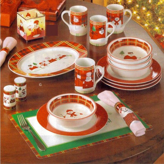 Perfectly Plaid Dinnerware Set
