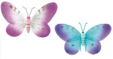 NEW! Smal and Large Pink and Purple Butterfly Wall Decor