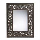 Carved Leaf-framed Mirror