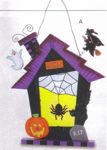 Stain Glass Halloween House