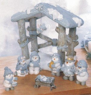 Snow Buddies Nativity Scene