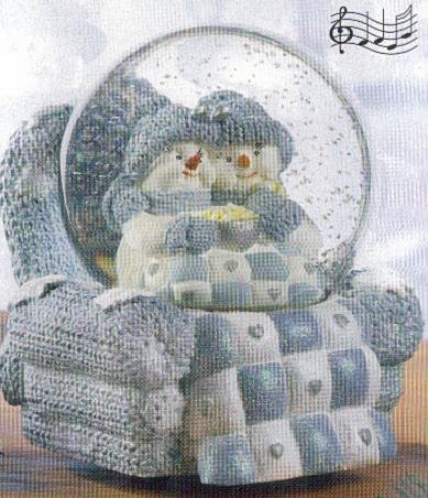 Snow Buddies Musical Snowglobe