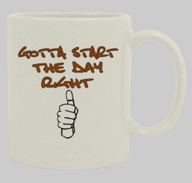 Start the day mug