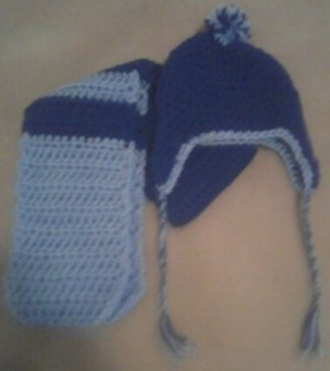 More of the Blues Kids Winter Scarf Set