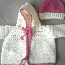 Baby Girl's Hooded Sweater set