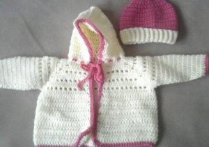 Baby Girl's Hooded Sweater set