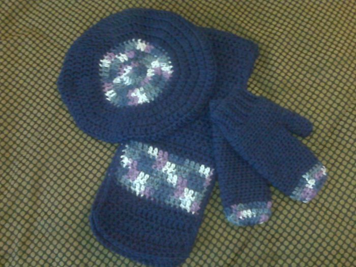 Rich Navy Blue Adult Winter Set- Special Order