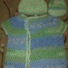 Blue & Green Kimono Sweater set