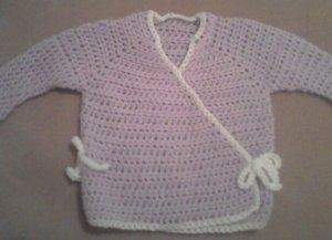 Pale Purple Baby Kimono Sweater- Special Order