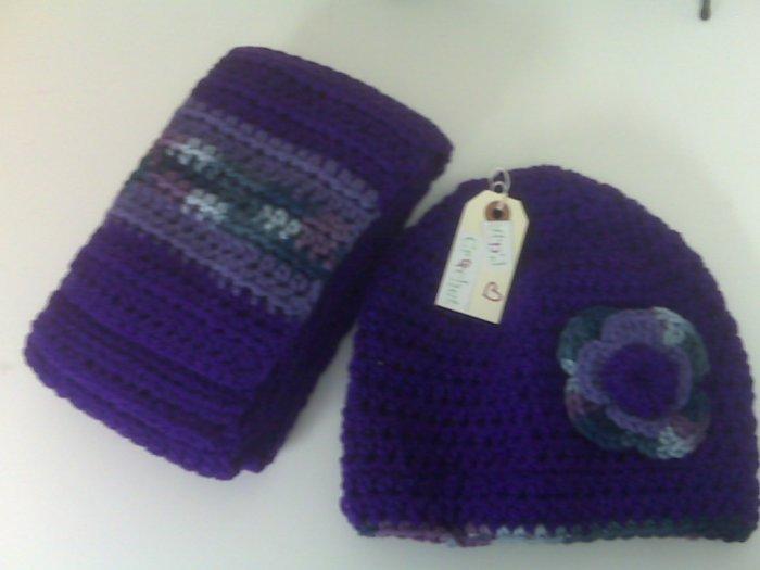 Bright Purple Adult Scarf Set