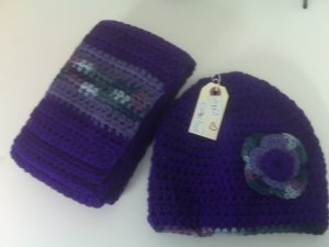Bright Purple Adult Scarf Set