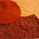 Pumpkin and Speck of Glitter Cowl Set- Special Order