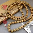 Tibet Buddhist 108 Green Sandalwood Beads Prayer Mala Necklace  15mm  ZZ001
