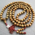 Tibet Buddhist 108 Green Sandalwood Beads Prayer Mala Necklace  8mm  ZZ005