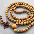 Tibet Buddhist 108 Green Sandalwood Beads Prayer Mala Necklace  6mm  ZZ008